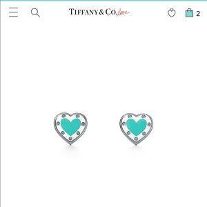 Tiffany & co love heart earrings COMES W/ RECEIPT